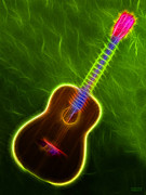 Music Lovers - Classical Neon Guitar by Hanza Turgul