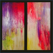Visionary Artist Painting Framed Prints - Classy and Fabulous   diptych Framed Print by Bebe Brookman