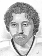 Philadelphia Flyers Drawings Metal Prints - Claude Giroux Metal Print by Brian Mako