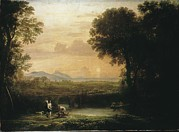 Two Fishing Men Posters - Claude Lorrain 1600-1682. Landscape Poster by Everett