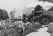 French School - Claude Monet in his garden at Giverny