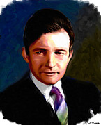 Movie Star Paintings - Claude Raines by Allen Glass