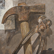 Hammer Paintings - Clawhammer 2 by Anke Classen