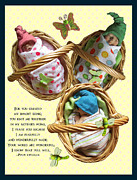 Clay Sculpture Posters - Clay Babies With Psalm Poster by Joyce Geleynse