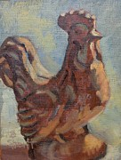 Donna Shortt Painting Metal Prints - Clay Chicken Metal Print by Donna Shortt