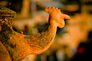 Actions Prints - Clay cockerel Bhaktapur Print by Raimond Klavins