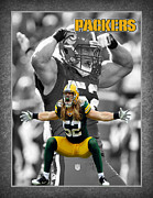 Football Prints - Clay Matthews Packers Print by Joe Hamilton