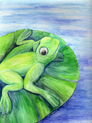Frog Mixed Media Originals - Cleanse Replenish Adapt by Jessica Grace Leahy