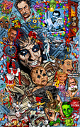 Cartoons Paintings - Clear a path you mothers im going home  ALICE COOPER by Timothy Phillips