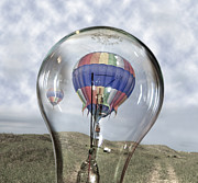 Hot Air Balloon Digital Art Prints - Clear Idea Print by East Coast Barrier Islands Betsy A Cutler