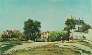 Space Art Paintings - Clearing of the old cemetery in Pontoise by Camille Pissarro