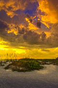 Sea Oats Prints - Clearing Skys Print by Marvin Spates