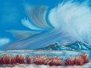 Formation Pastels Prints - Clearing Snowstorm  Print by Dawn Senior-Trask