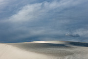 Gypsum Framed Prints - Clearing Storm at White Sands Framed Print by Sandra Bronstein