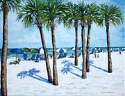 Mexico People Paintings - Clearwater Beach Morning by Penny Birch-Williams