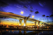 Florida Bridge Photos - Clearwater bridge by Marvin Spates
