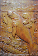 Bas Relief Sculpture Reliefs - Clearwater Grouping by Jeremiah Welsh