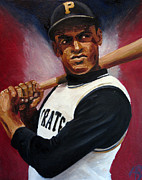 Roberto Clemente Painting Acrylic Prints - Clemente Acrylic Print by Adam Barone