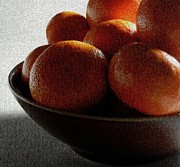 Orange Metal Prints - Clementines Are Orange Metal Print by Val Arie