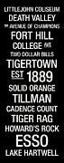 Solid Prints - Clemson College Town Wall Art Print by Replay Photos