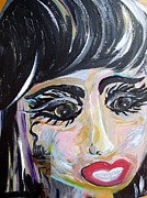 Caricature Paintings - Cleo - A Modern Cleopatra Caricature by Eloise Schneider
