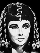 Elizabeth Taylor Drawings - Cleopatra by Jeff Stroman