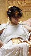 Gold Crown Framed Prints - Cleopatra Framed Print by John William Waterhouse