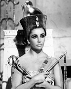 Elizabeth Taylor Framed Prints - Cleopatra Framed Print by Silver Screen