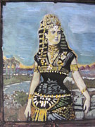 Pharaoh Painting Prints - Cleopatra The Last Pharoah of Egypt Print by Vikram Singh
