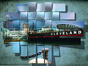 Blue Brick Digital Art Prints - Cleveland A Different Look Print by Kenneth Krolikowski
