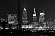 Cleveland Black And White Night II Print by Frozen in Time Fine Art Photography