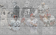 Sports Greeting Cards Framed Prints - Cleveland Browns Legends Framed Print by Joe Hamilton