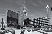 National Commercial Framed Prints - Cleveland Downtown II Framed Print by Clarence Holmes