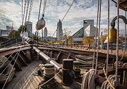 Tall Ship Prints - Cleveland From The Deck Of The Peacemaker Print by Dale Kincaid