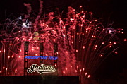 Cavaliers Metal Prints - Cleveland Indians Metal Print by Robert Harmon
