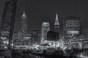 Terminal Prints - Cleveland Night Skyline IV Print by Clarence Holmes