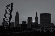 Silhouette - Cleveland Skyline at Sunrise II by Clarence Holmes