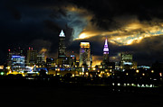 Cleveland Originals - Cleveland Skyline by Cynthia Pease