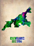 Irina  March - Cleveland Watercolor Map