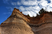 Kasha Katuwe Tent Rocks Prints - Cliff at Tent Rocks Print by Vivian Christopher
