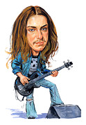 Metallica Painting Framed Prints - Cliff Burton Framed Print by Art