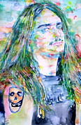 Burton Painting Framed Prints - Cliff Burton Portrait.1 Framed Print by Fabrizio Cassetta