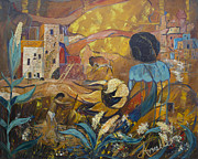 Archeology Paintings - Cliff Dwellers by Avonelle Kelsey
