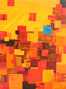 Patchwork Quilts Paintings - Cliff Dwellings by Brenda Helt