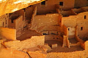 Ancient Ruins Prints - Cliff Dwellings Print by Jeff  Swan