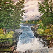 Metal Trees Originals - Cliff Falls by Sharon Duguay