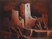 Native Painting Originals - Cliff Palace by Jerry McElroy