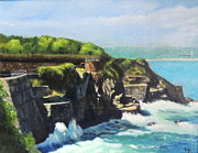 Steps Painting Originals - Cliff Walk Newport RI by Patty Kay Hall