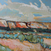 Southwest Indians Paintings - Cliffs And Sage by Kip Decker