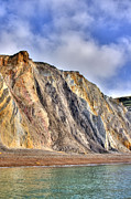 Sandy Point Park Prints - Cliffs At The Isle Of Wight Print by Fizzy Image